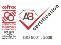 Logo AB certification ISO 9001